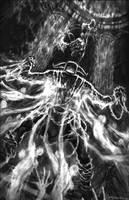 God of War III-Hades Battle by andyparkart