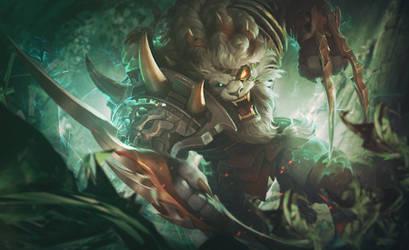Rengar of League of Legends by Katagari