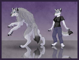 Werewolf and Anthro by WindWo1f