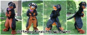 Buttercup Fursuit 2.0 by WindWo1f