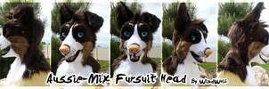 Aussie-Mix Fursuit Head by WindWo1f