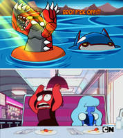 Steven Universe: Pokemon Scene Reenactment by Mgx0