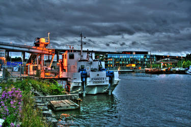 Hammarbyhamnen HDR by callegg