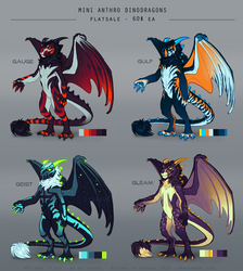 [CLOSED] Mini Anthro Dinodragons 2 by Zyraxus