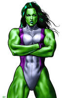 She-Hulk by NelsonInks