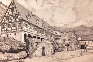 Fachwerkhaus in ruhiger Landschaft by awasetsu