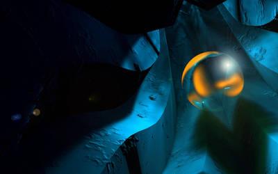 A sphere in strange tunnel by solenero73