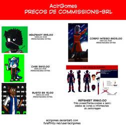 Tabela Comissions (BRL) by AcirGomes