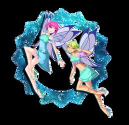 CG: Earth fairies by R-Scarlett