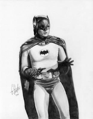 Adam West Batman by grantshorterart