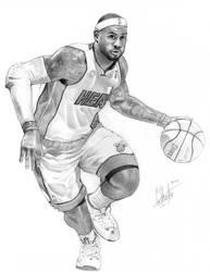 LeBron James pencil drawing by grantshorterart
