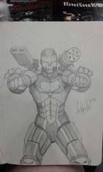 Iron Man/Punisher Mashup by grantshorterart