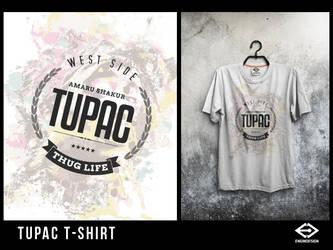 Tupac  T-Shirt by engin-design