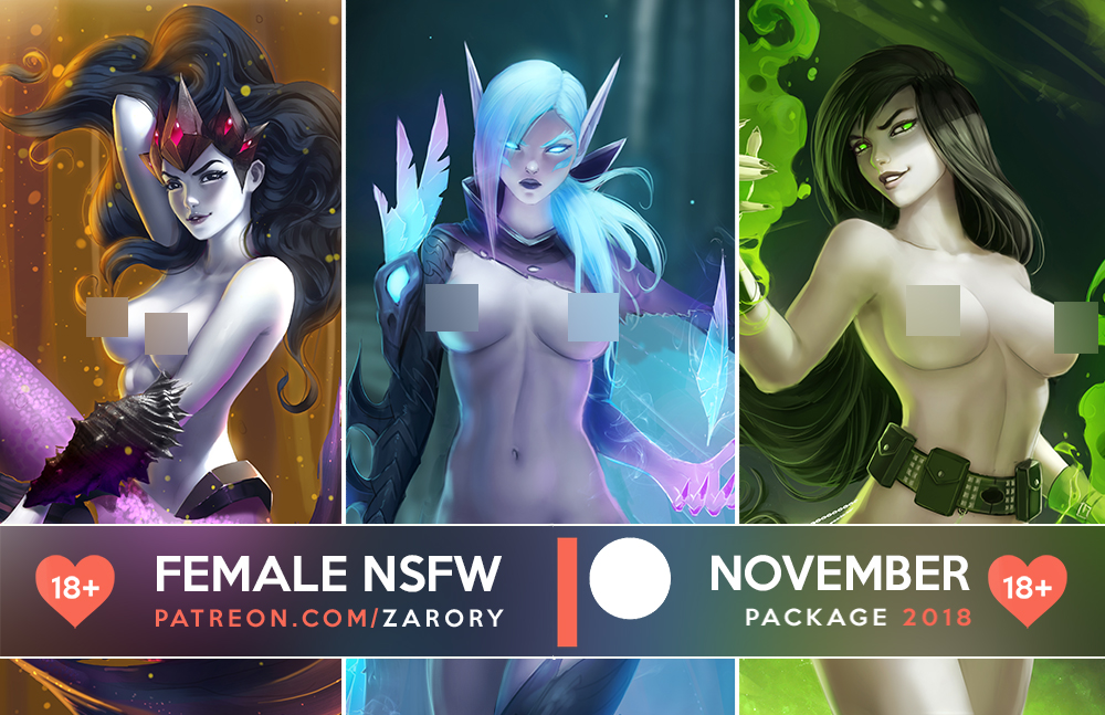 Female NSFW Previews - November Package by Zarory