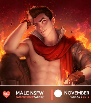 Male NSFW Preview - November Package by Zarory