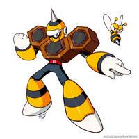 Mega Man 30th Anniversary Collab: Hornet Man by Stardroid-Mercury
