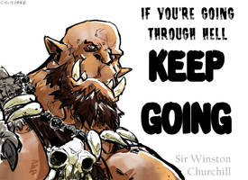 Motivational Quote: Orgrim by aokamidu