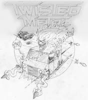 Twisted Metal Pencils by AlecFritz