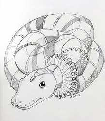 Inktober 2018: 19 Snake by Hituro