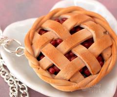 Cherry Pie Pendant by DeliciousTrickery