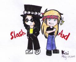 Slash N' Axl by wr0