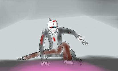 GlitchTale Sketch: gaster by Warlord9787