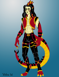 Crimson Were-dragon by Princess-Tria