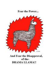 fear the drama Llama by Lorisarrd