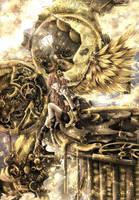 Steampunk angel by xilveroxas
