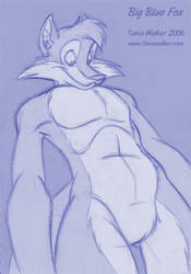 Sketch Commission: BigBlueFox by animator
