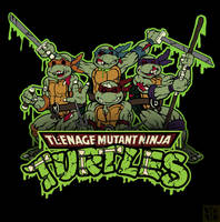 Zombie Ninja Turtles by Holden-Hostetler