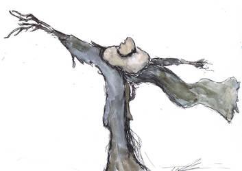 Drawlloween Day 14 - Scarecrow by cheezweazl