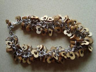 Shaggy Hearts Bracelet by FawnReser