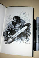 Ink sketch by Koveck