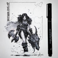 Dragon slayer by Koveck