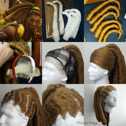 Lucio Overwatch wig tutorial by Pisaracosplay
