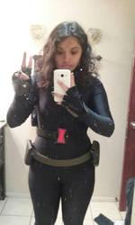 black widow cosplay progress  by spidergirl1997