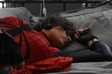 Sleeping Spider by spidergirl1997