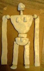 Laputa Robot Rough Sculpt Layout by Grayhair