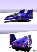 Blue Falcon Fzero 3ds max by emanon01