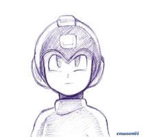 Megaman stylo bic by emanon01