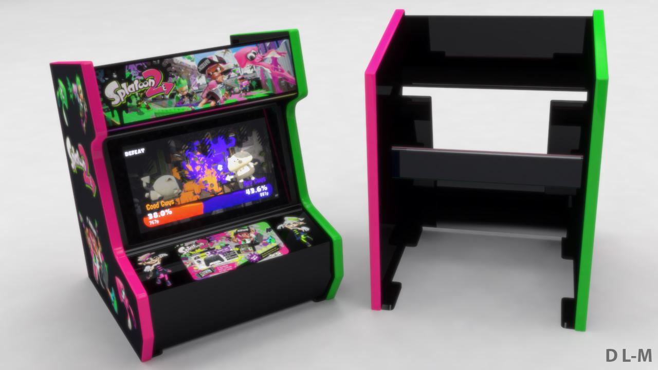 Arcade cabinet stand for Nintendo Switch (3dprint) by emanon01