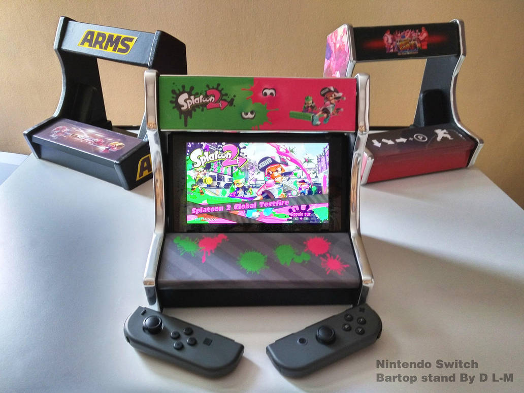 Bartop/stand for Nintendo switch (Final version) by emanon01