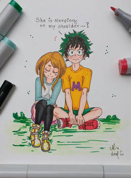 Uraraka and Deku by ChappySuey