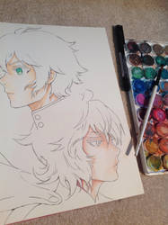 WIP-Yuu and Mika by Jeageractive