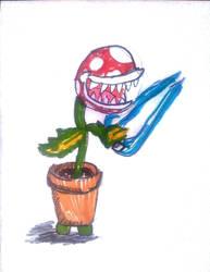 Energy Sword Piranha Plant by Cartoontriper