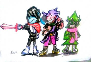 Deltarune Party by Cartoontriper