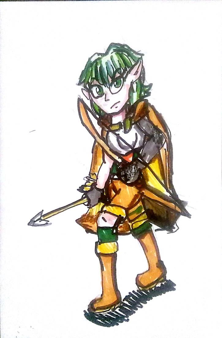 High Elf the Archer by Cartoontriper
