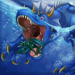 Commission: Terrible Depths by LadyVenomMyotismon