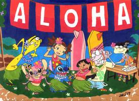 Ed+Stitch - Hawaiian Dance (Lilo+Stitch) by jajuruns90rebels
